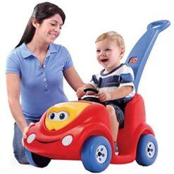 Baby Pushing Car