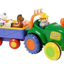 kiddieland farm tractor with trailor