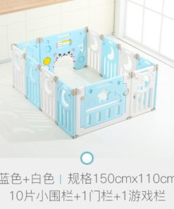 Foldable Baby Playpen Safety Yard Fence Blue N7417+12+2