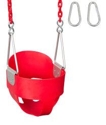 Toddler indoor & outdoor swing Red