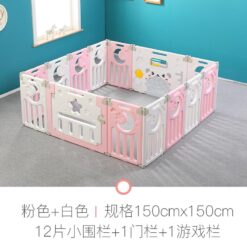 Foldable Baby Playpen Safety Yard Fence Pink 12+2