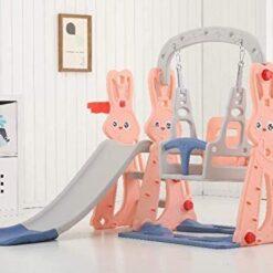Garden Children Plastic Slide & Swing Toys SIZE 143 X 140 X 110 CM