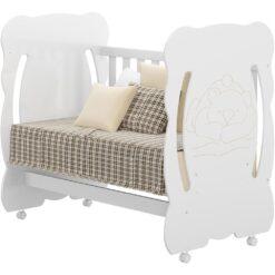Wooden Baby Bear Crib Cradle 0503