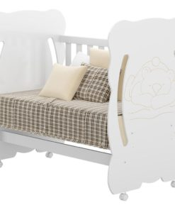 Wooden Baby Bear Crib Cradle 0503