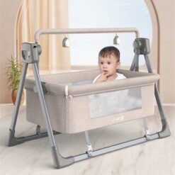 Electric Cradle Bed Electric Shaker Baby Shake Bed Beige