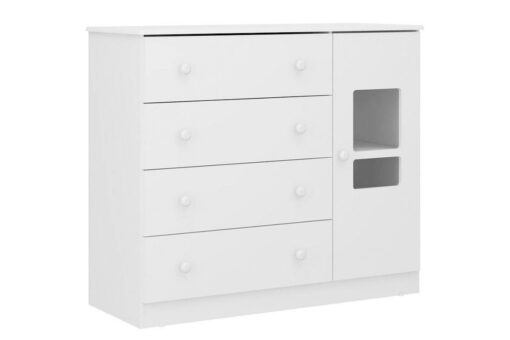 Multimedia Childish Dresser Plus with 1 Door and 4 Drawers BP-0073