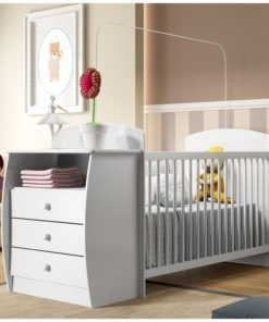 Wooden Baby Crib/Dresser - White Color 0516