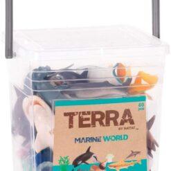 Terra by Battat – Marine World – Assorted Fish & Sea Creature Animal Toys for Kids 3+ (60 Pc)