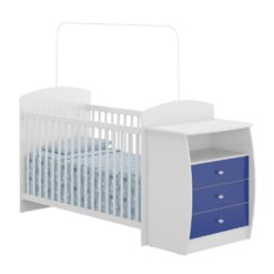 Wooden Baby Crib/Dresser –Blue 0516 Brazil
