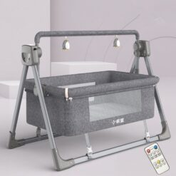 Electric Cradle Bed Electric Shaker Baby Shake Bed For Newborn GRAY