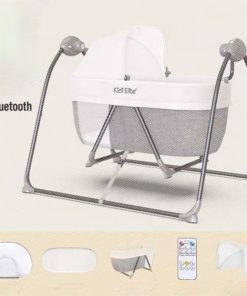 Baby Electric Cradle Bed With Bluetooth GRAY