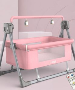Electric Cradle Bed Electric Shaker Baby Shake Bed For Newborn PINK