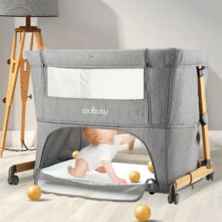 Portable Baby Bed For Newborn Stitching Large Bed