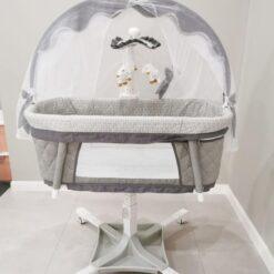 Dream on me évolur Baby Bassinet Swivel Sleeper Gray-PL681
