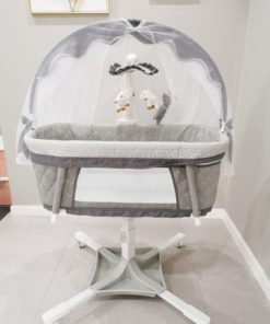 Dream on me évolur Baby Bassinet Swivel Sleeper Gray-PL681
