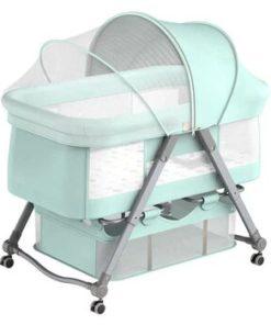 Baby Crib Cradle Newborn Movable Portable Nest Crib Baby Travel Bed GREEN