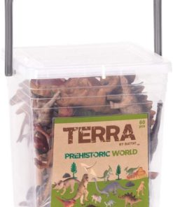 Terra by Battat – Prehistoric World – Assorted Miniature Dinosaur Toys for Kids 3+ (60 Pc)