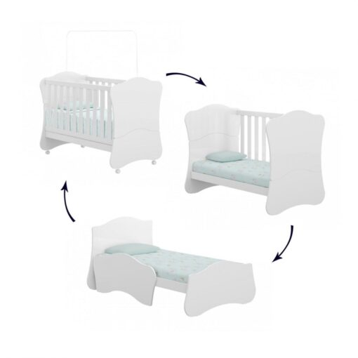 Baby Multimedia Adjustable Mini Crib Bed BP-0520-0001