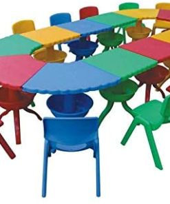 Plastic Table & Chairs for Kids Nursery Furniture Indoor -Outdoor
