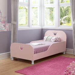 Mini Toddler Bed White With Glossy 150X70 PINK