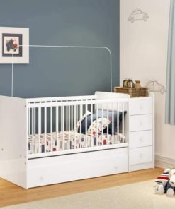 Mini Wooden Baby Crib white Bp-2550-010 Brazil
