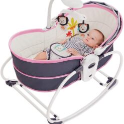 Baby Bassinets & Rocking Chairs 5 in 1 Cradle Bed (PURPLE)