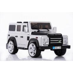 Land Rover Defender Powered Riding SUV DMD 198 White