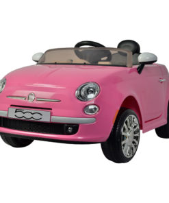 Fiat 500 Powered Riding Car LB 651R Pink