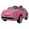 Fiat 500 Powered Riding Car LB 651R Pink