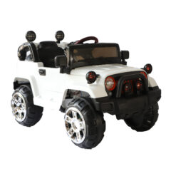 Remote Control Powered Riding Jeep DX -235 White