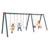 Metal Swing fivesome-outdoor-garden-metal-swing-playset