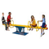 Double Springs Happy Metal 4 Seat See Saw, Yellow N04001