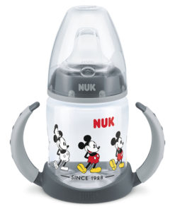 Nuk - First Choice Learner Mickey Mouse 150ml Bottle - Grey