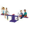 Double Springs Happy Metal 4 Seats See Saw - Blue SHA-VS4-679