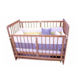 Monami Wooden Baby Crib Brown