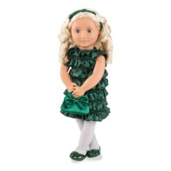 Our Generation Audrey-Ann 18 Posable Deluxe Holiday Doll with Book and Accessories