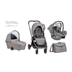 4 In 1 Baby Sroller With A Unique Design - E70-Grey/White