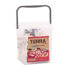 Terra by Battat – World Realistic Cows Toys & Farm Animal Toys for Kids 3+60 Pcs