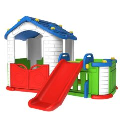 Plastic Big Playhouse Red House with Slide CHD-354