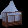 Mon Ami Baby Swing Crib and Soft Chiffon