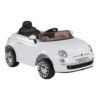 Fiat 500 Powered Riding Car LB 651R White