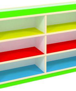 Kids wooden toy display organizer storage bookshelf cabinet