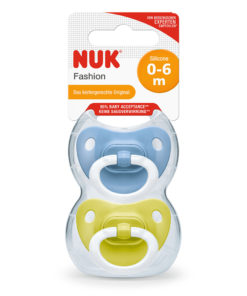 Nuk - Fashion Silicon Soother 0-6m Pack of 2 - Blue