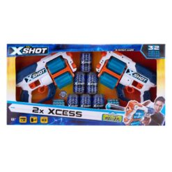 X-Shot Excel Xcess TK-12 Double Pack - 6 Cans + 24 Darts