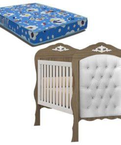 Cradle Bed Realeza With Captone Suede Royalty Beige 90250