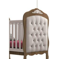 Realeza Captone Crib Headboard Beige Canaan Royalty