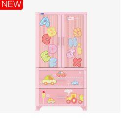 Kids & Adults Plastic Cabinet Drawers Big Size ABC Pink - 1158-C