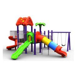Kids Playground Swing 3 Slides, 1 Dome, & 1 Tunnel Size 790 x 660 x 370 cm.