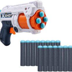 X-Shot Zuru Excel Fury 4 Foam for Darts, Multi-Colour, 36377, 16 Darts