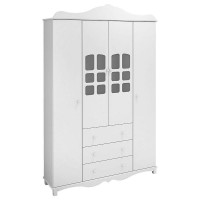 Imperial 4 Doors Wardrobe American White Royalty